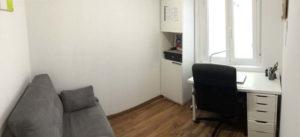 Venta piso centrico Ejea amueblado calefaccion aire acondicionado Despacho -Fincas Ejea